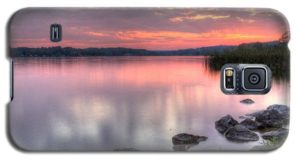 Fiery Lake Sunset Galaxy S5 Case