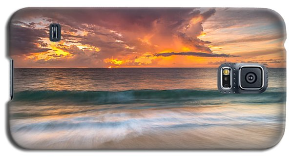 Galaxy S5 Case featuring the photograph Fiery Skies Azure Waters Rendezvous by Photography  By Sai
