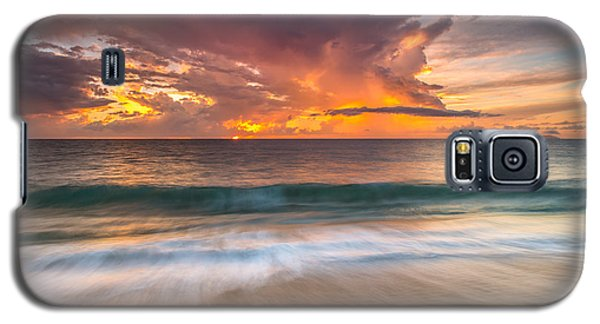 Fiery Skies Azure Waters Rendezvous Galaxy S5 Case
