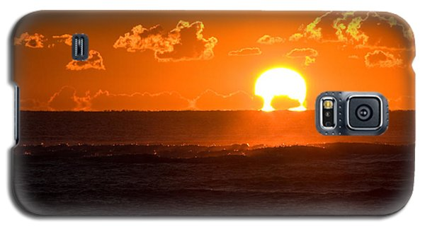 Galaxy S5 Case featuring the photograph Fiery Sunrise by Greg Graham