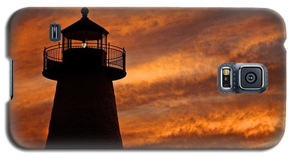 Galaxy S5 Case featuring the photograph Fiery Sunset by Amazing Jules