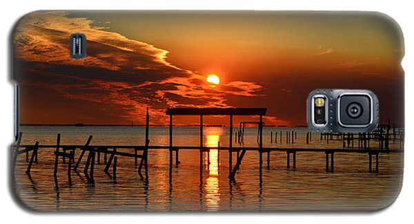 Fiery Sunset Colors Over Santa Rosa Sound Galaxy S5 Case