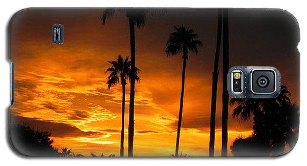 Galaxy S5 Case featuring the photograph Fiery Sunset by Deb Halloran