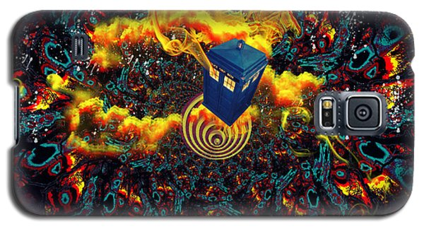 Galaxy S5 Case featuring the painting Fiery Time Vortex by Digital Art Cafe