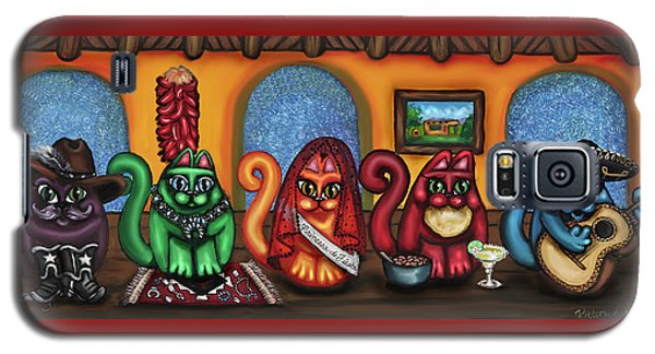 Fiesta Cats Or Gatos De Santa Fe Galaxy S5 Case by Victoria De Almeida