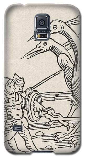 Fight Between Pygmies And Cranes. A Story From Greek Mythology Galaxy S5 Case by English School