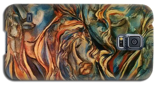 Galaxy S5 Case featuring the painting Figures Of  Beauty by Dawn Fisher