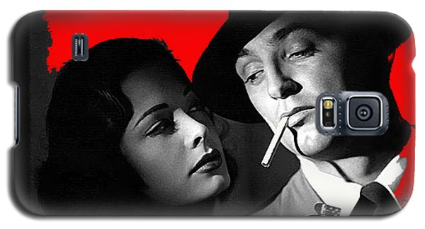 Film Noir Jane Greer Robert Mitchum Out Of The Past 1947 Rko Color Added 2012 Galaxy S5 Case