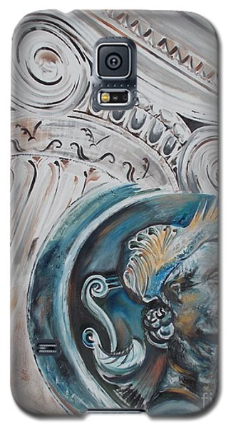 Galaxy S5 Case featuring the painting Financial Cliff by PainterArtist FIN