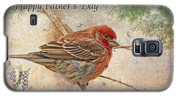 Finch Greeting Card Father's Day Galaxy S5 Case