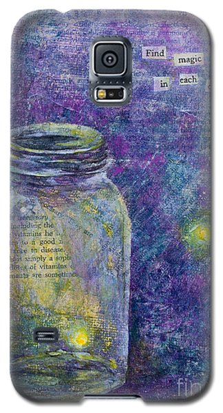 Galaxy S5 Case featuring the mixed media Find Magic by Melissa Sherbon