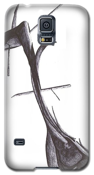 Galaxy S5 Case featuring the drawing Find Your Way by Giuseppe Epifani