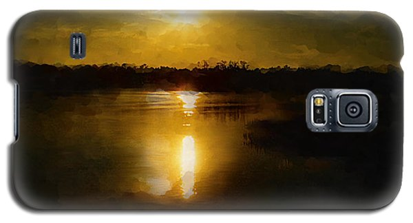 Fine Art Digital Painting Sunset Weeki Wachee Florida Galaxy S5 Case