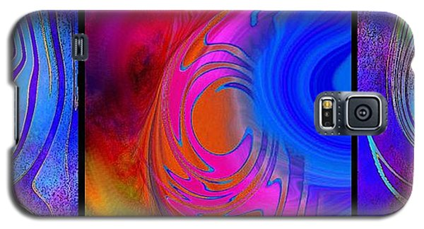 Fine Art Painting Original Digital Abstract Warp 3 Galaxy S5 Case
