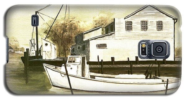 Fine Art Traditional Oil Painting Solomons Island Galaxy S5 Case