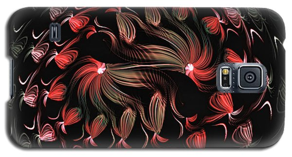 Galaxy S5 Case featuring the digital art Finger Painted Fractal by Lea Wiggins