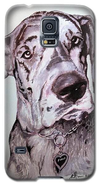 Galaxy S5 Case featuring the drawing Fiona by Rachel Hames