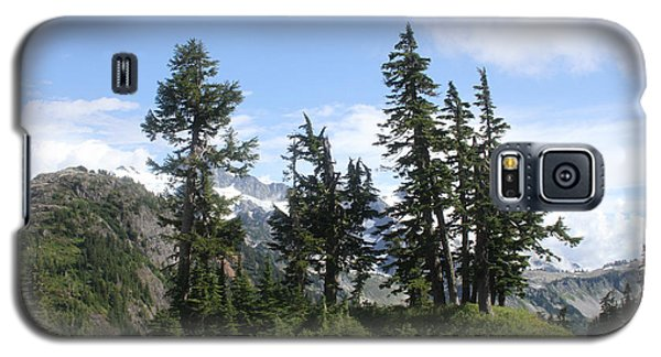 Galaxy S5 Case featuring the photograph Fir Trees At Mount Baker by Tom Janca