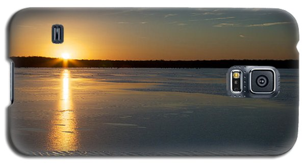 Galaxy S5 Case featuring the photograph Fire And Ice - Sunset On An Icy Lake by Jane Eleanor Nicholas