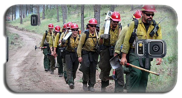 Fire Crew Walks To Their Assignment On Myrtle Fire Galaxy S5 Case