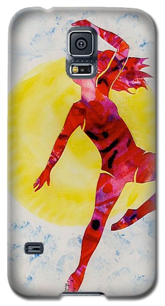 Galaxy S5 Case featuring the painting Fire Dancer by Mary Armstrong