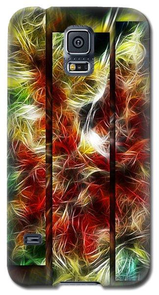 Galaxy S5 Case featuring the digital art Fire Dancers Triptych by Selke Boris