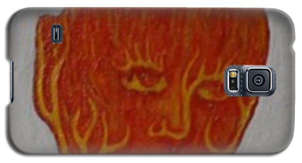 Galaxy S5 Case featuring the painting Fire Face by Steve  Hester