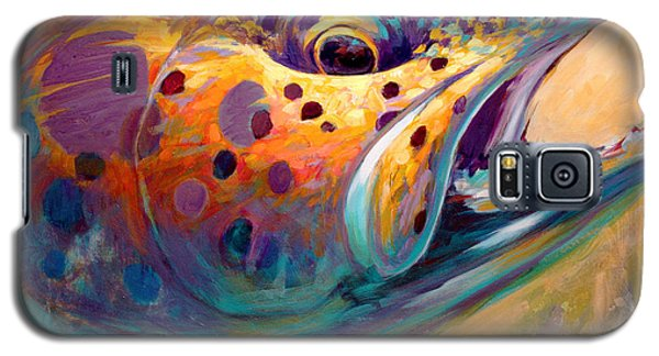 Fire From Water - Rainbow Trout Contemporary Art Galaxy S5 Case by Savlen Art