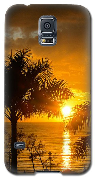 Galaxy S5 Case featuring the photograph Fire In The Sky by Jon Emery