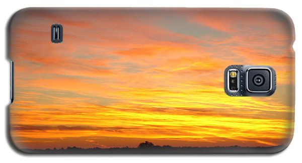 Galaxy S5 Case featuring the painting Fire In The Sky by J L Zarek