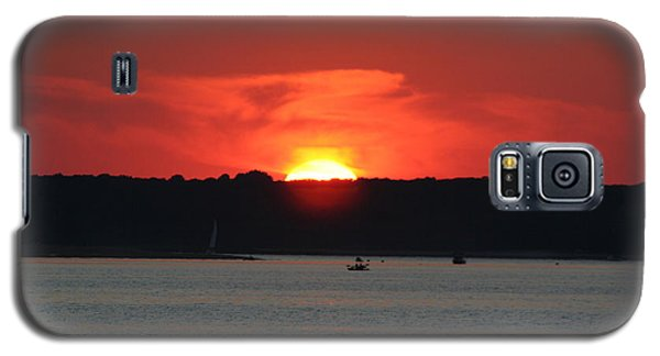 Galaxy S5 Case featuring the photograph Fire In The Sky by Karen Silvestri