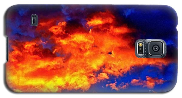 Fire In The Sky Galaxy S5 Case by Margaret Newcomb