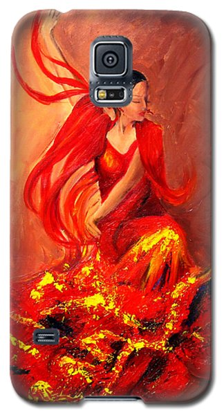 Fire Of Life Flamenco Galaxy S5 Case by Sheri  Chakamian