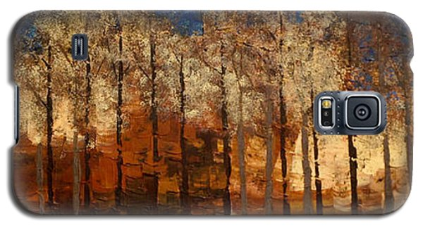 Galaxy S5 Case featuring the painting Fire On The Mountain by Linda Bailey