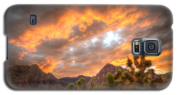 Fire On The Red Rock Galaxy S5 Case
