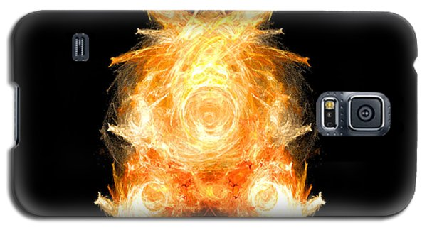 Galaxy S5 Case featuring the digital art Fire Pig by R Thomas Brass
