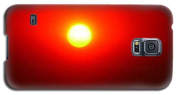 Galaxy S5 Case featuring the photograph Fire Sun by Julia Ivanovna Willhite