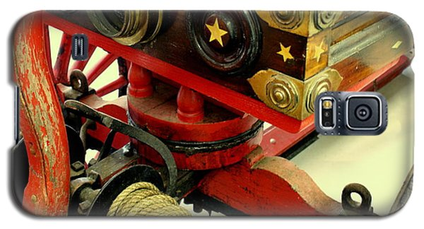 Galaxy S5 Case featuring the photograph Fire Wagon by Lois Lepisto