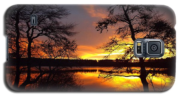Galaxy S5 Case featuring the photograph Sunrise Fire by Dianne Cowen