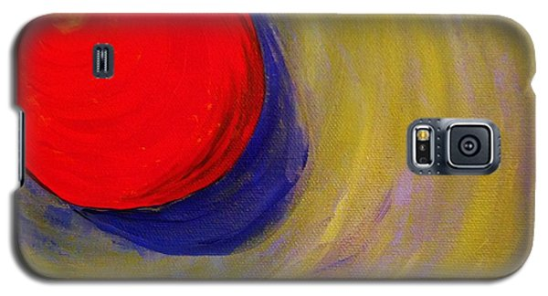 Galaxy S5 Case featuring the painting Fireball by Brigitte Emme