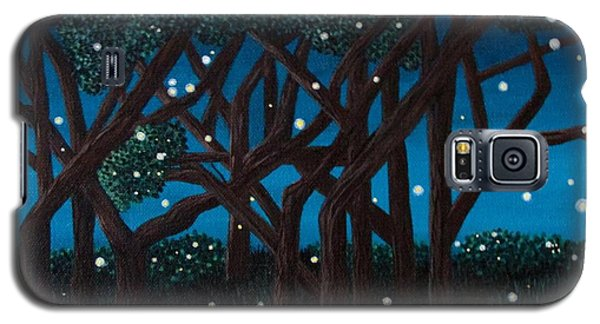 Galaxy S5 Case featuring the painting Fireflies by Cheryl Bailey