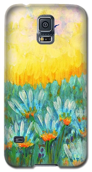 Galaxy S5 Case featuring the painting Firelight by Holly Carmichael