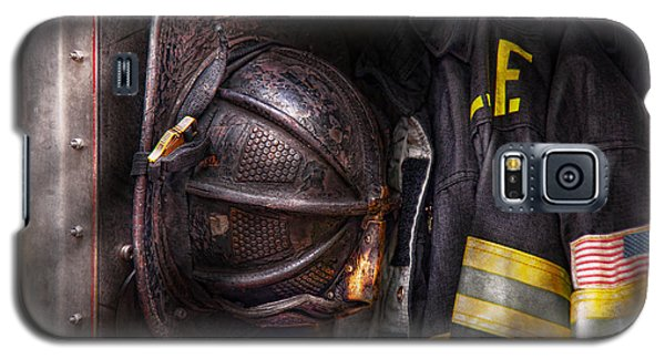 Fireman - Worn And Used Galaxy S5 Case by Mike Savad