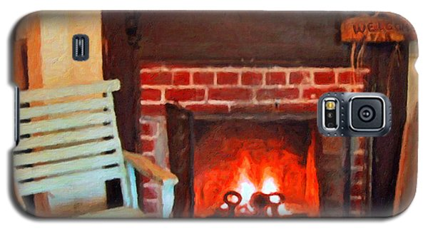 The Family Hearth - Fireplace Old Rocking Chair Galaxy S5 Case
