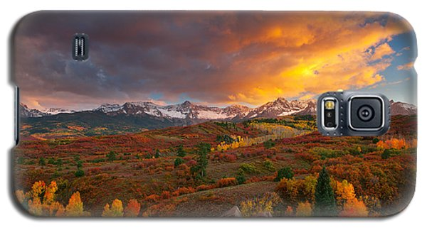 Firery Sunset At Dallas Divide Galaxy S5 Case