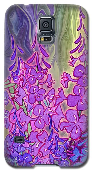 Galaxy S5 Case featuring the mixed media Fireweed Medley by Teresa Ascone