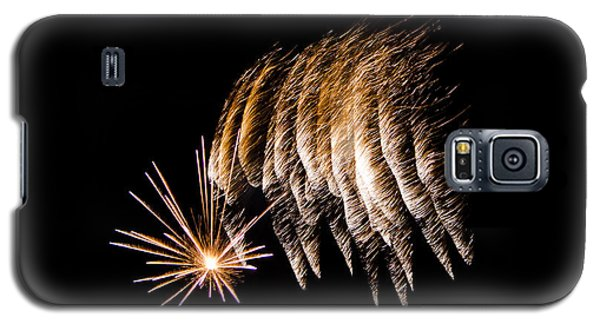 Galaxy S5 Case featuring the photograph Fireworks 1 by Susan  McMenamin