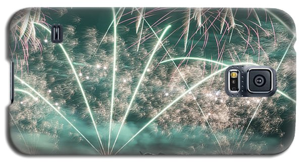 Fireworks And Aircraft Galaxy S5 Case