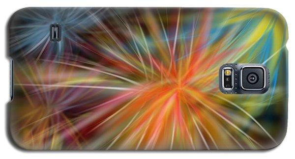 Galaxy S5 Case featuring the digital art Fireworks by Christine Fournier