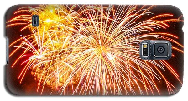Galaxy S5 Case featuring the photograph Fireworks Flower by Robert Hebert